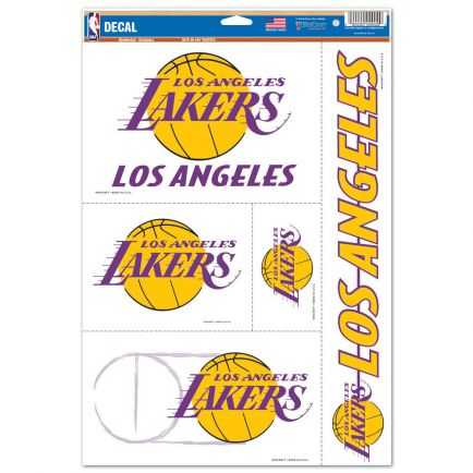 "Los Angeles Lakers Multi Use Decal 11"" x 17"""