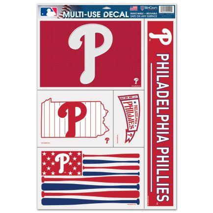 "Philadelphia Phillies Multi Use Decal 11"" x 17"""
