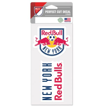 """New York Red Bulls Perfect Cut Decal Set of two 4""""x4"""""""