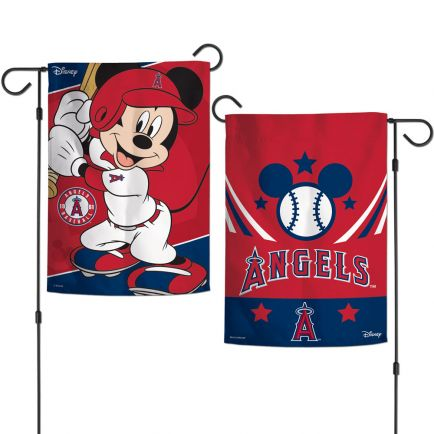 """Angels / Disney Mickey Mouse Garden Flags 2 sided 12.5"""" x 18"""""""