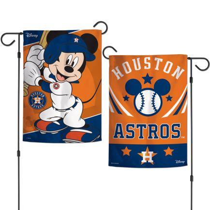 "Houston Astros / Disney Mickey Mouse Garden Flags 2 sided 12.5"" x 18"""