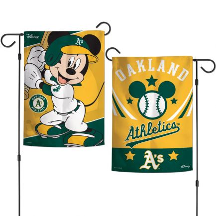 "Oakland A's / Disney Mickey Mouse Garden Flags 2 sided 12.5"" x 18"""