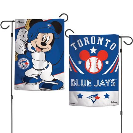 "Toronto Blue Jays / Disney Mickey Mouse Garden Flags 2 sided 12.5"" x 18"""