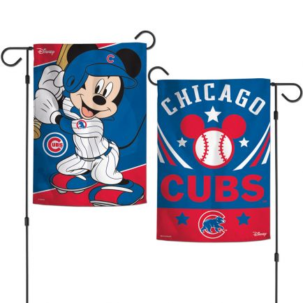 "Chicago Cubs / Disney Mickey Mouse Garden Flags 2 sided 12.5"" x 18"""