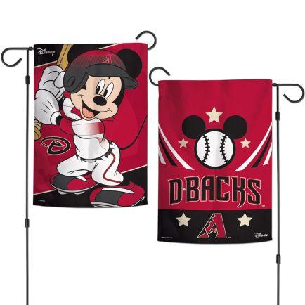 "Arizona Diamondbacks / Disney Mickey Mouse Garden Flags 2 sided 12.5"" x 18"""