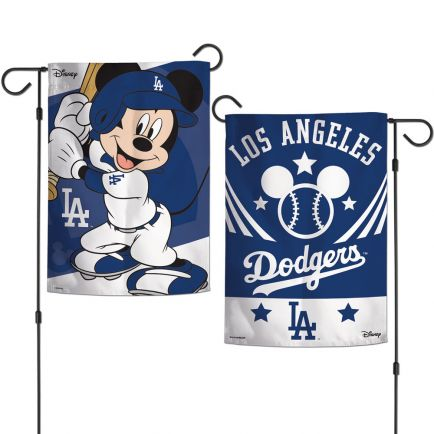 "Los Angeles Dodgers / Disney Mickey Mouse Garden Flags 2 sided 12.5"" x 18"""