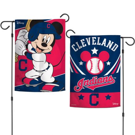 "Cleveland Indians / Disney Mickey Mouse Garden Flags 2 sided 12.5"" x 18"""