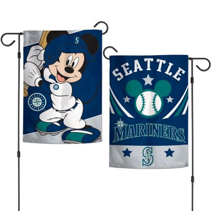 "Seattle Mariners / Disney Mickey Mouse Garden Flags 2 sided 12.5"" x 18"""
