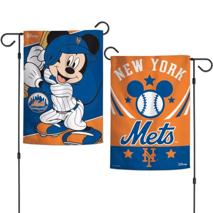 "New York Mets / Disney Mickey Mouse Garden Flags 2 sided 12.5"" x 18"""