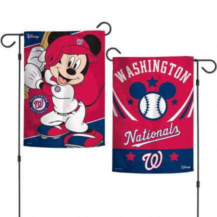 "Washington Nationals / Disney Mickey Mouse Garden Flags 2 sided 12.5"" x 18"""