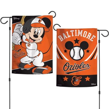 "Baltimore Orioles / Disney Mickey Mouse Garden Flags 2 sided 12.5"" x 18"""