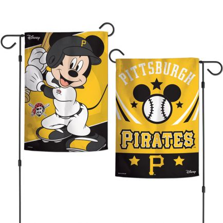 "Pittsburgh Pirates / Disney Mickey Mouse Garden Flags 2 sided 12.5"" x 18"""