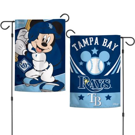 """Tampa Bay Rays / Disney Mickey Mouse Garden Flags 2 sided 12.5"""" x 18"""""""