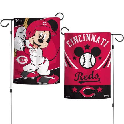 "Cincinnati Reds / Disney Mickey Mouse Garden Flags 2 sided 12.5"" x 18"""