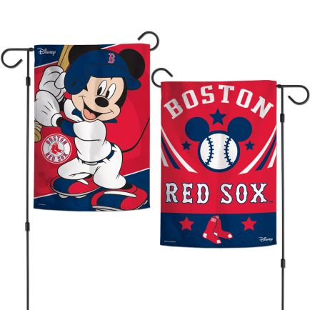 "Boston Red Sox / Disney Mickey Mouse Garden Flags 2 sided 12.5"" x 18"""
