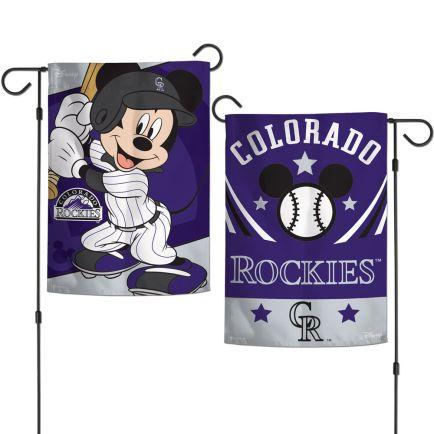 "Colorado Rockies / Disney Mickey Mouse Garden Flags 2 sided 12.5"" x 18"""