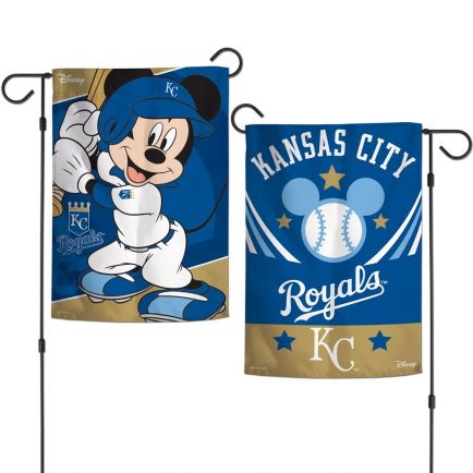 "Kansas City Royals / Disney Mickey Mouse Garden Flags 2 sided 12.5"" x 18"""