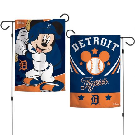 "Detroit Tigers / Disney Mickey Mouse Garden Flags 2 sided 12.5"" x 18"""