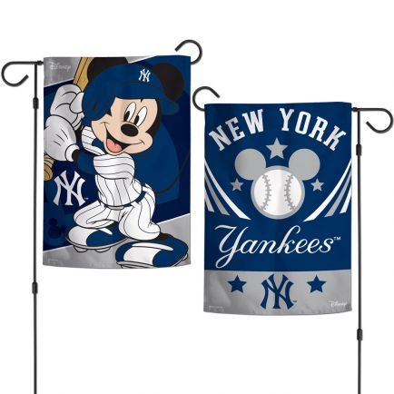 """New York Yankees / Disney Mickey Mouse Garden Flags 2 sided 12.5"""" x 18"""""""