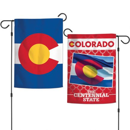 """State / Colorado Garden Flags 2 sided 12.5"""" x 18"""""""