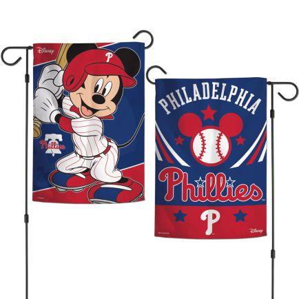 "Philadelphia Phillies / Disney Garden Flags 2 sided 12.5"" x 18"""