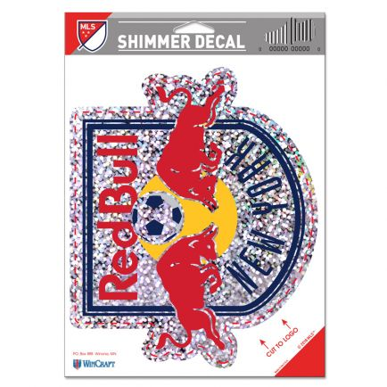 """New York Red Bulls Shimmer Decals 5"""" x 7"""""""