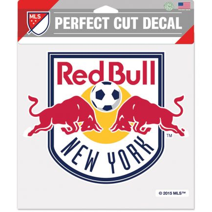 """New York Red Bulls Perfect Cut Color Decal 8"""" x 8"""""""