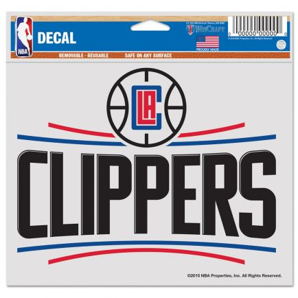 "Los Angeles Clippers Multi-Use Decal -Clear Bckrgd 5"" x 6"""