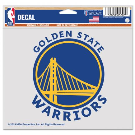 "Golden State Warriors Multi-Use Decal -Clear Bckrgd 5"" x 6"""