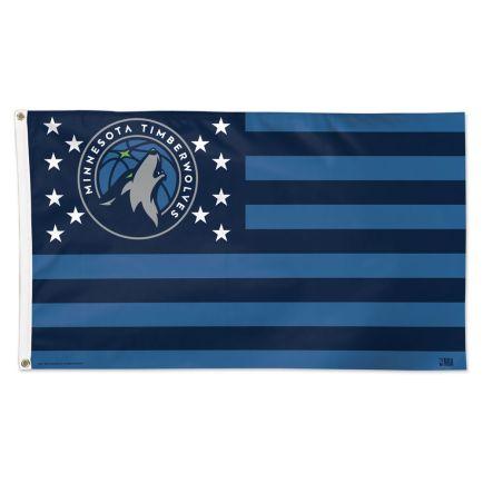 Minnesota Timberwolves / Patriotic Flag - Deluxe 3' X 5'