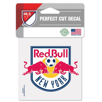 """New York Red Bulls Perfect Cut Color Decal 4"""" x 4"""""""