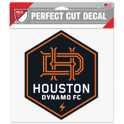 "Houston Dynamo Perfect Cut Color Decal 8"" x 8"""
