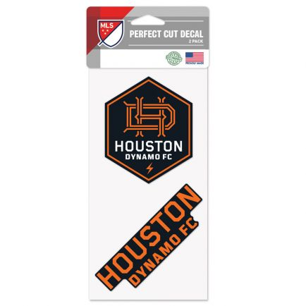 "Houston Dynamo Perfect Cut Decal Set of two 4""x4"""