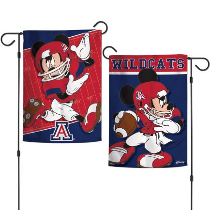 "Arizona Wildcats / Disney MICKEY MOUSE FOOTBALL Garden Flags 2 sided 12.5"" x 18"""
