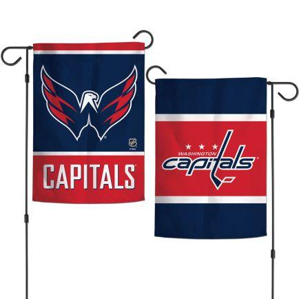 "Washington Capitals Garden Flags 2 sided 12.5"" x 18"""