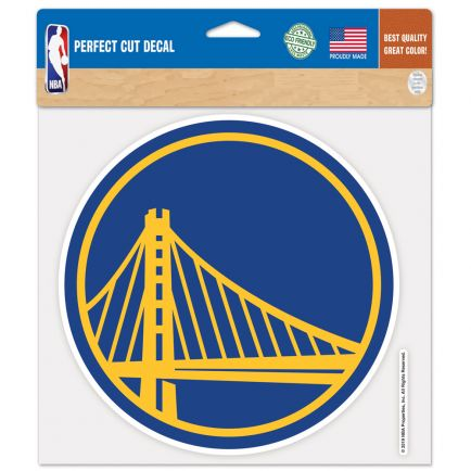 "Golden State Warriors Perfect Cut Color Decal 8"" x 8"""