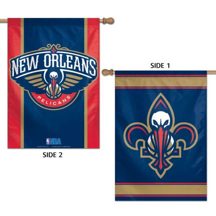"""New Orleans Pelicans Vertical Flag 2 Sided 28"""" x 40"""""""