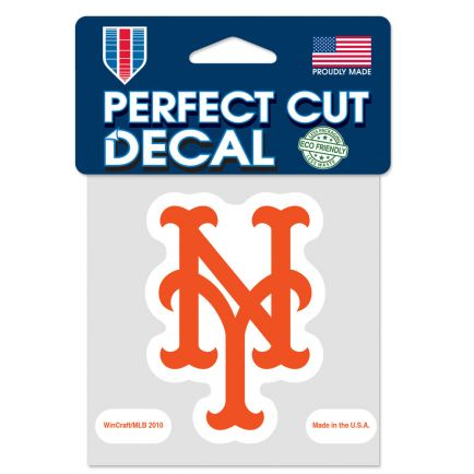 """New York Mets Perfect Cut Color Decal 4"""" x 4"""""""