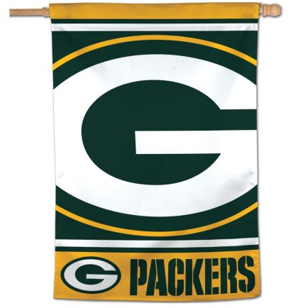 "Green Bay Packers MEGA LOGO Vertical Flag 28"" x 40"""