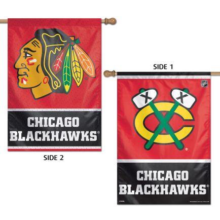"""Chicago Blackhawks Vertical Flag 2 Sided 28"""" x 40"""""""