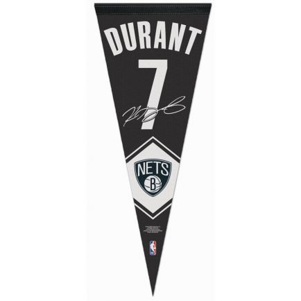 """Brooklyn Nets number Premium Pennant 12"""" x 30"""" Kevin Durant"""
