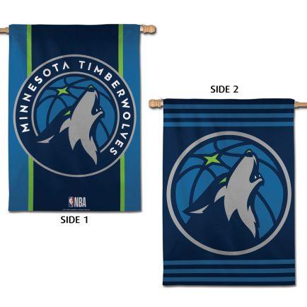 "Minnesota Timberwolves Vertical Flag 2 Sided 28"" x 40"""