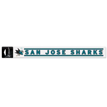 """San Jose Sharks Perfect Cut Decals 2"""" x 17"""""""
