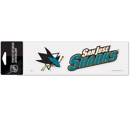 """San Jose Sharks Perfect Cut Decals 3"""" x 10"""""""