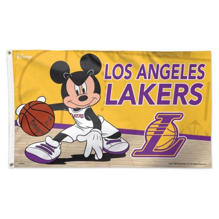 Los Angeles Lakers / Disney Flag - Deluxe 3' X 5'