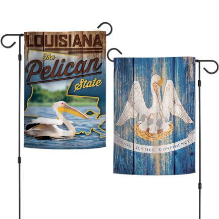 """State / Louisiana Garden Flags 2 sided 12.5"""" x 18"""""""