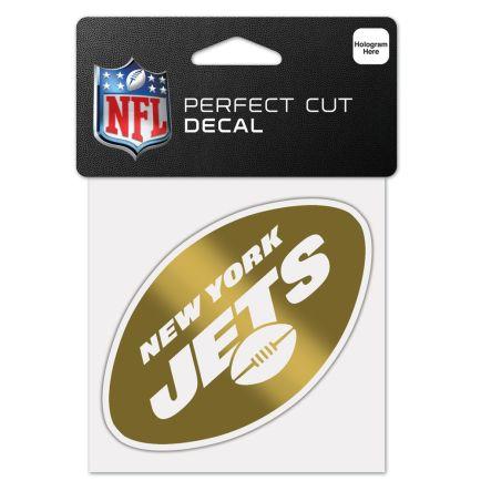 "New York Jets Gold Decal Metallic 4"" x 4"""