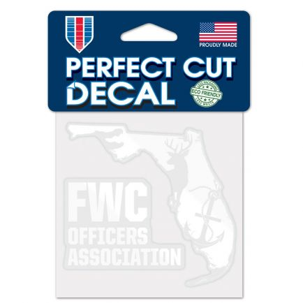 "FWC Officers Association Decal Metallic 4"" x 4"""