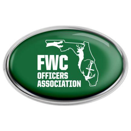 FWC Officers Association Chrome Metal Domed Emblem