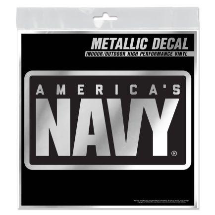 """U.S. Navy Metallic Window Decals 6"""" x 6"""""""